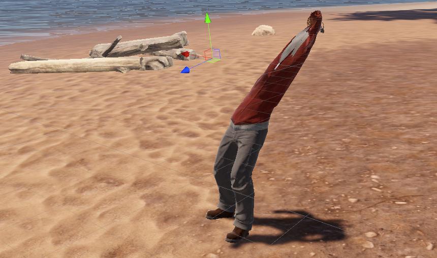 Создать жирафика, что бы видеть ноги в Rust