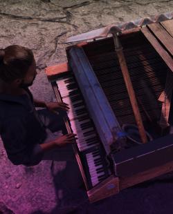 Wheelbarrow Piano Image