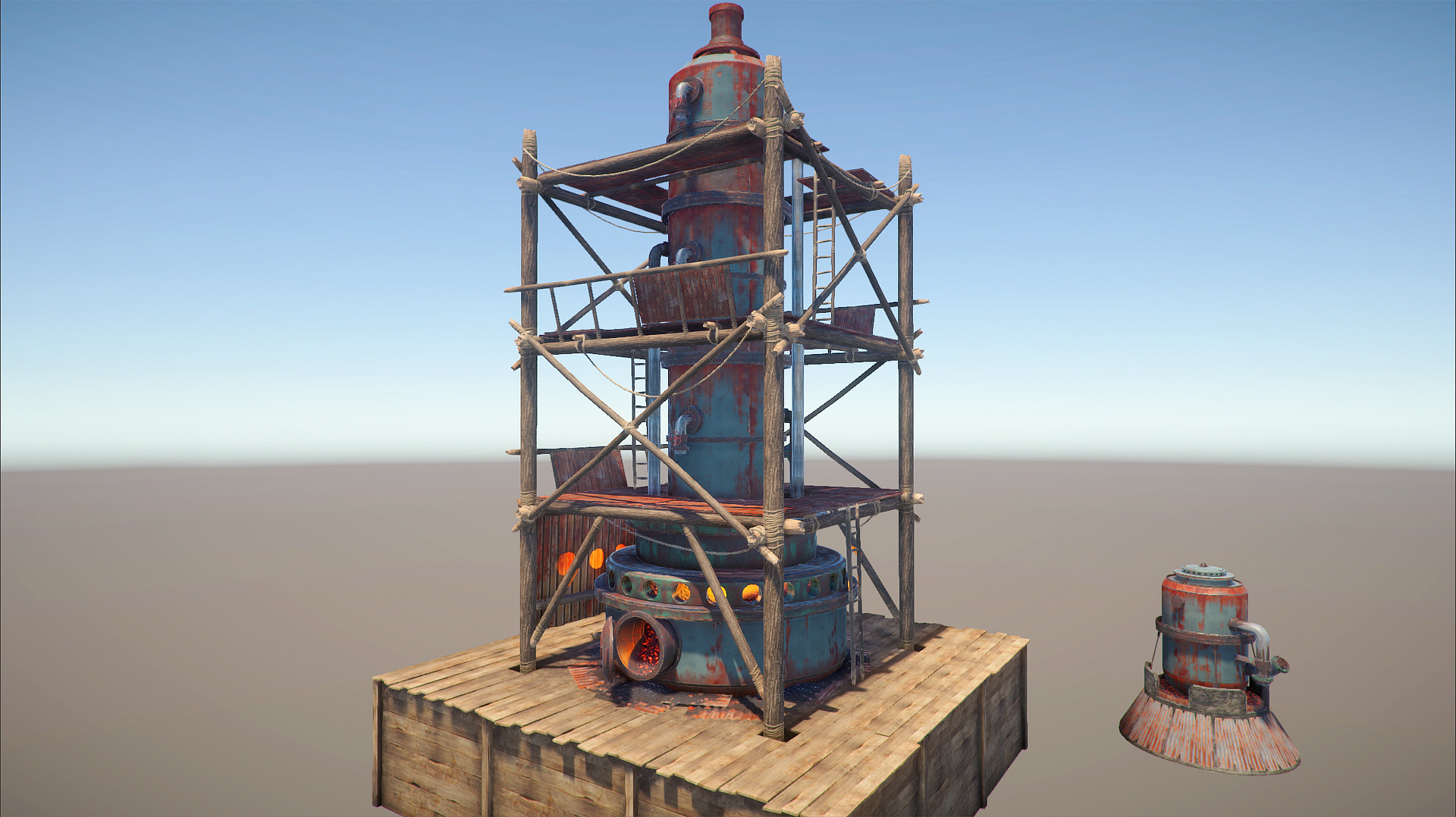 Devblog 72 rust another thing im working on is our big deployables foundations first it was straight then i patched a quick ramp on the sides to adapt to terrain malvernweather Gallery
